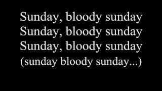 Video U2-Sunday Bloody Sunday w/lyrics download MP3, 3GP, MP4, WEBM, AVI, FLV Januari 2018