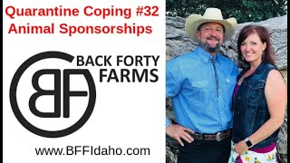 Quarantine Coping #32 - Animal Sponsorship Opportunities  - Back Forty Farms