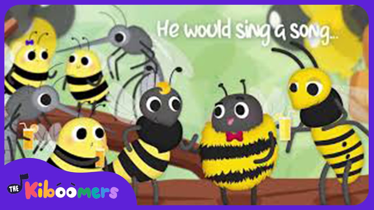The Bee's Party Song | Bee Song for Kids | The Kiboomers | Nursery Rhymes | Baby Songs | Bees