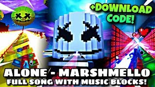 Marshmello Alone on fortnite with music blocks!