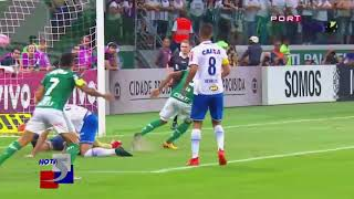 Miguel Ángel Borja marcó doblete con el Palmeiras en el Brasileirao