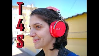 Bluedio T4S Bluetooth HEADPHONES REVIEW - Red Delight