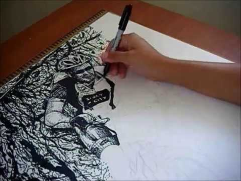 Eduardo quiroz by the art of andy draws fast drawing for Cool things to draw with markers