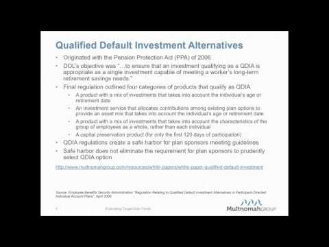 Evaluating Target Date Funds