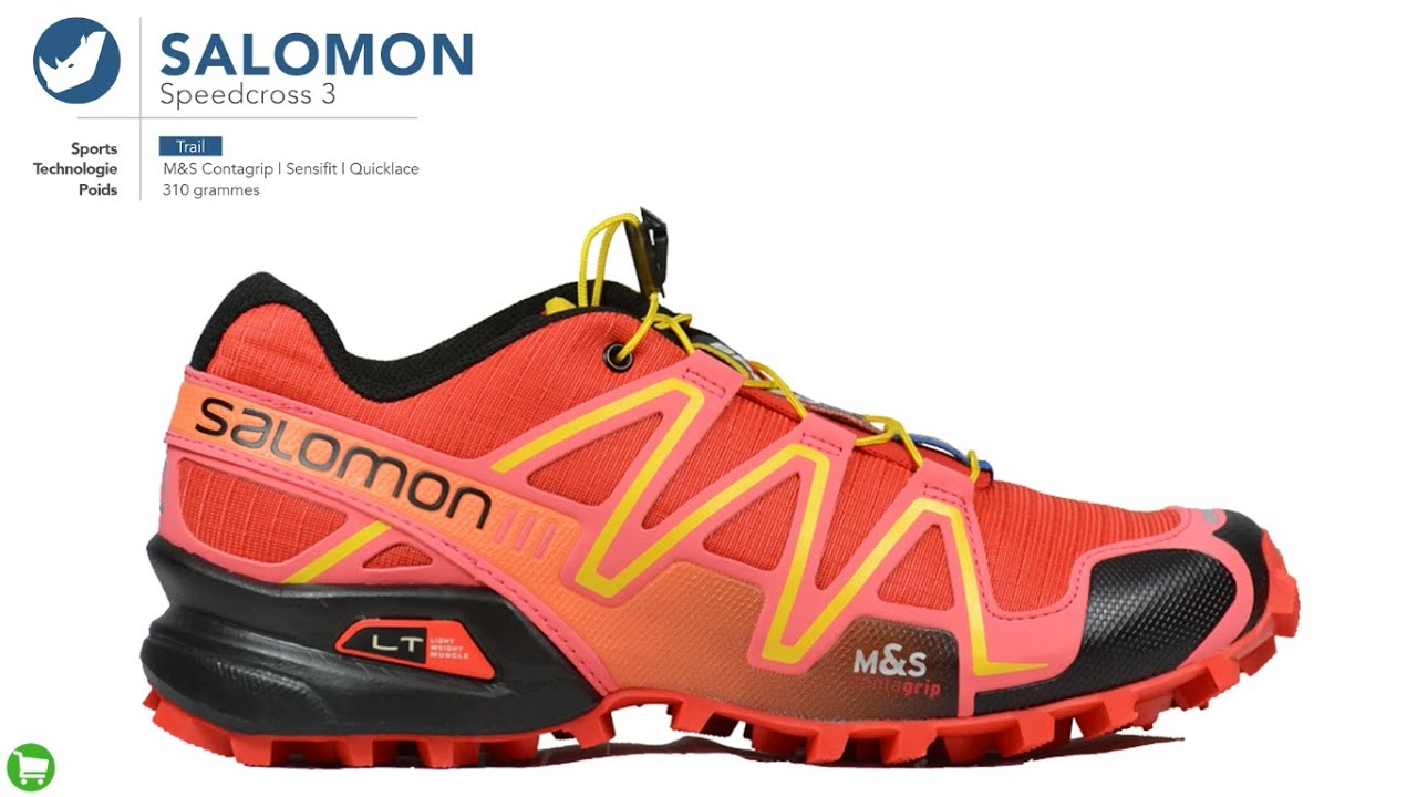 Youtube Speedcross Salomon Trail 3 Femme Chaussure De q5wgnxEU