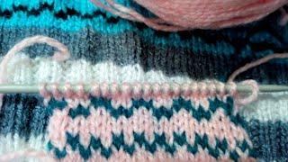 Sweater me alag colour se line dalein design#2