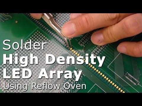 Soldering High-density SMT LED Array Using DIY Reflow Oven