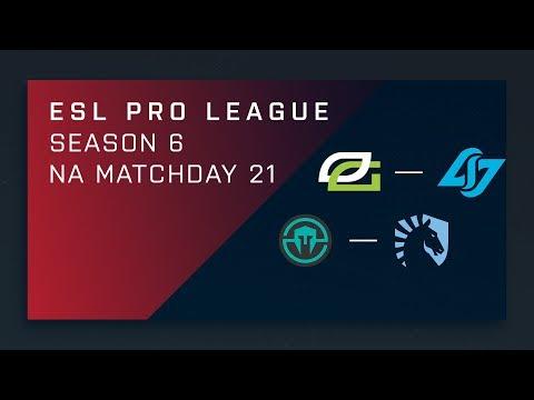 CS:GO: OpTic vs. CLG | Immortals vs. Liquid - Day 21 - ESL Pro League Season 6 - NA Main