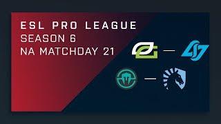 CS:GO: OpTic vs. CLG   Immortals vs. Liquid - Day 21 - ESL Pro League Season 6 - NA Main