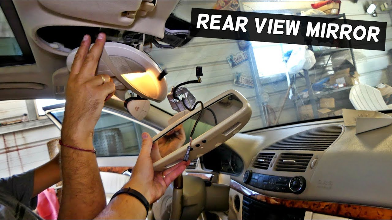 How To Remove And Replace Rear View Mirror On Mercedes