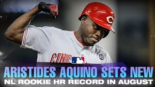 Reds Aristides Aquino sets new a home run RECORD in August!