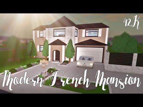 Bloxburg: Modern French Mansion 42K