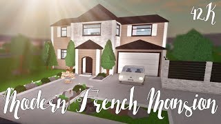 Bloxburg: Modern French Mansion 42K