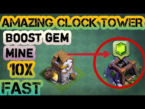 CLOCK TOWER BOOST GEM MINE 10X FASTER FOR FREE!!💪✌