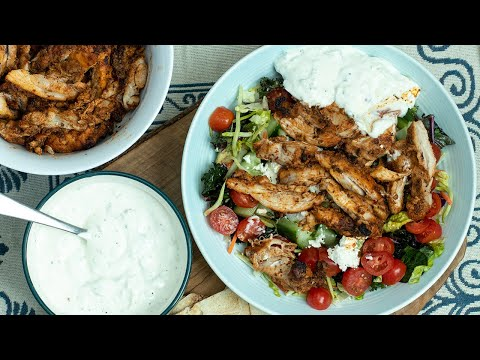 Greek Style Chicken Gyro Bowls