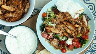 Greek Style Chicken Gyro Bowls
