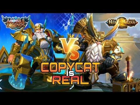 Mobile Legends VS Heroes Arena  (HERO Vs HERO) COPYCAT Is REAL