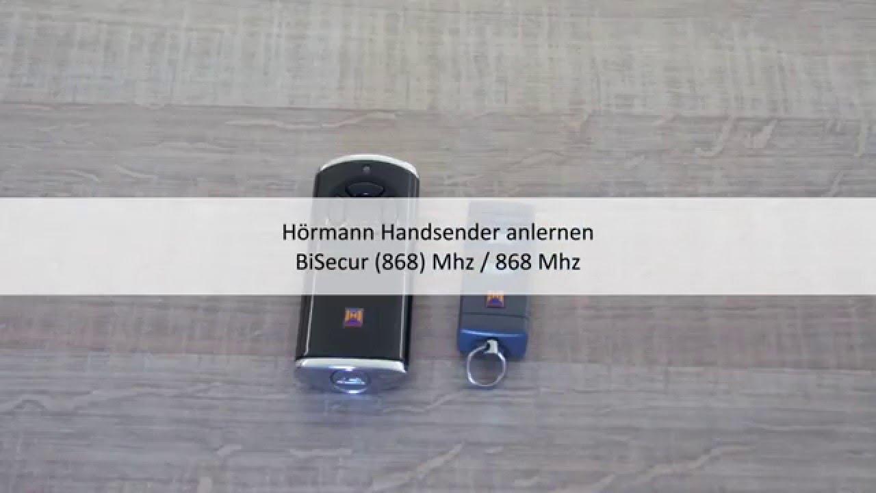bisecur an 868 mhz h rmann handsender anlernen youtube. Black Bedroom Furniture Sets. Home Design Ideas