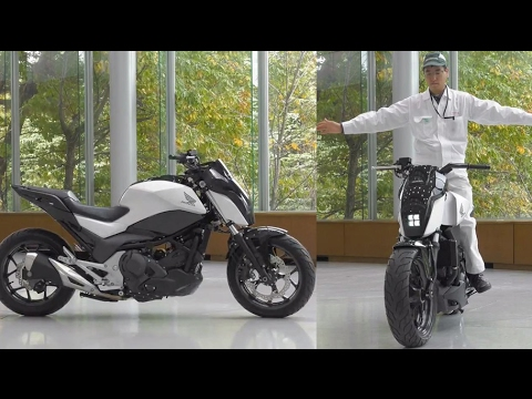 Future transportation: Self-balancing motorcycle; driver ass
