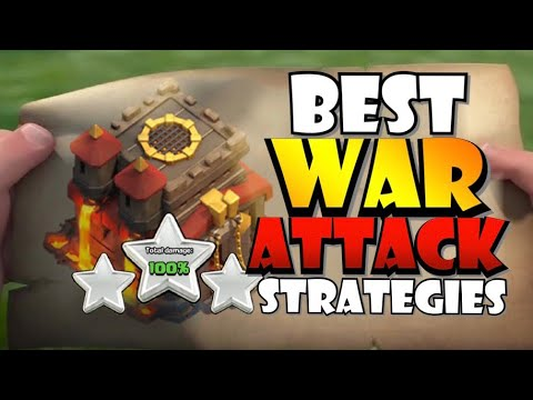 TOP 5 BEST TH10 War Attack Strategies VS Damage CC Troops On Defense In Clash Of Clans