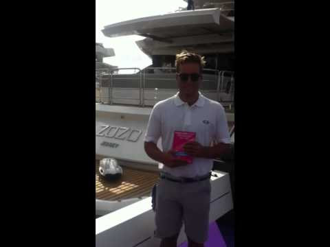 Yachting Pages testimonial from M/Y ZOZO at Monaco Yacht Show 2014