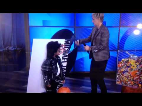 My Nephew Garvey Impersonating MJ on TV for Halloween
