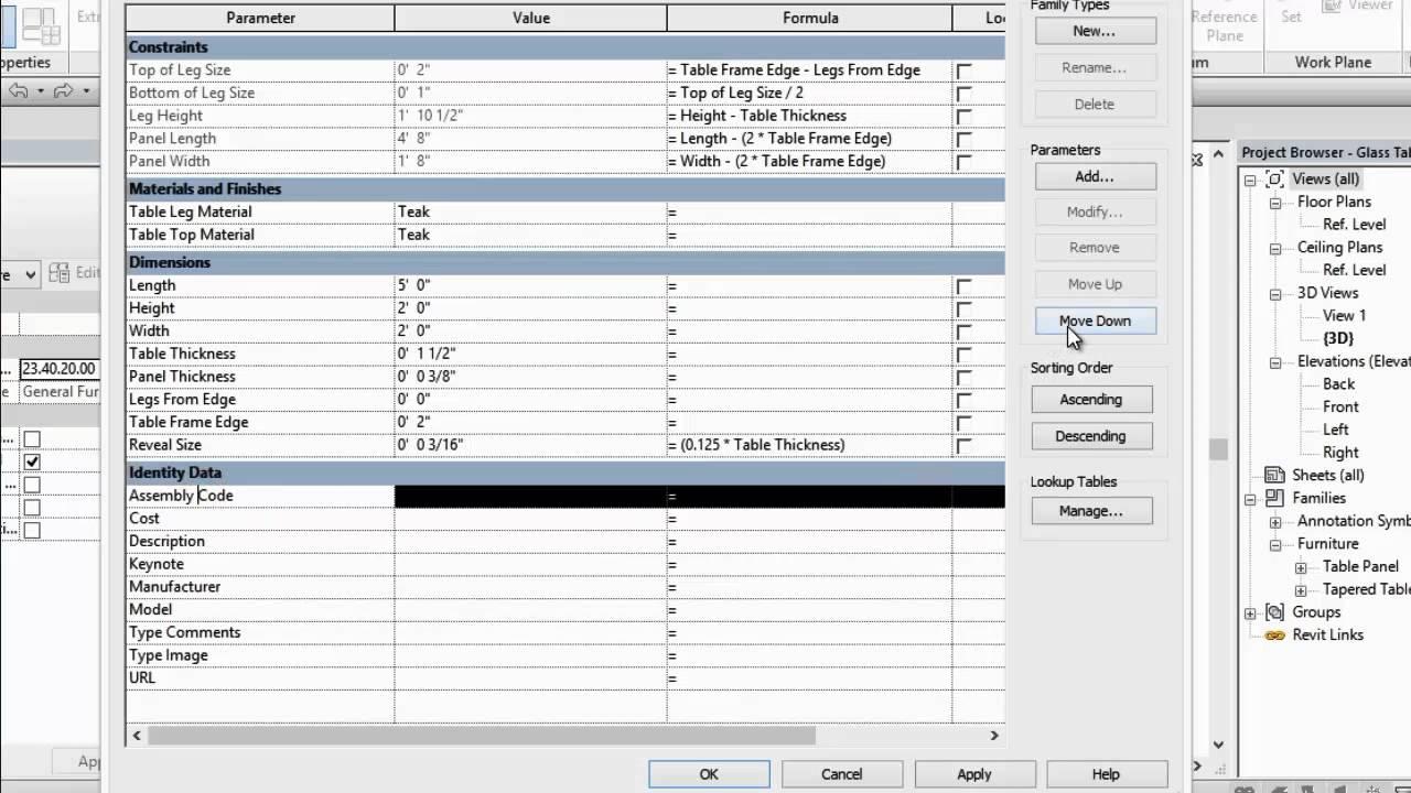 Revit 2015: Family Parameter Ordering