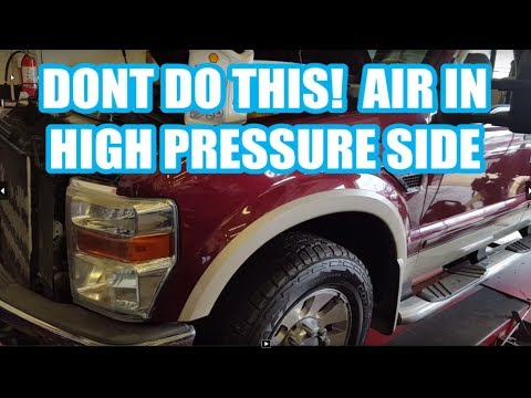 F250 6.4L FUEL SYSTEM BLEED after filter change AIR IN HIGH PRESSURE SIDE f350 -08-10 no start after