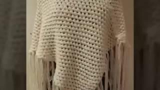 0316326fdb2 Πλεκτό πόντσο με πλέξη κουκουτσάκι - Μέρος 2ο! Διαστάσεις και λεπτομέρειες  Art of crochet -