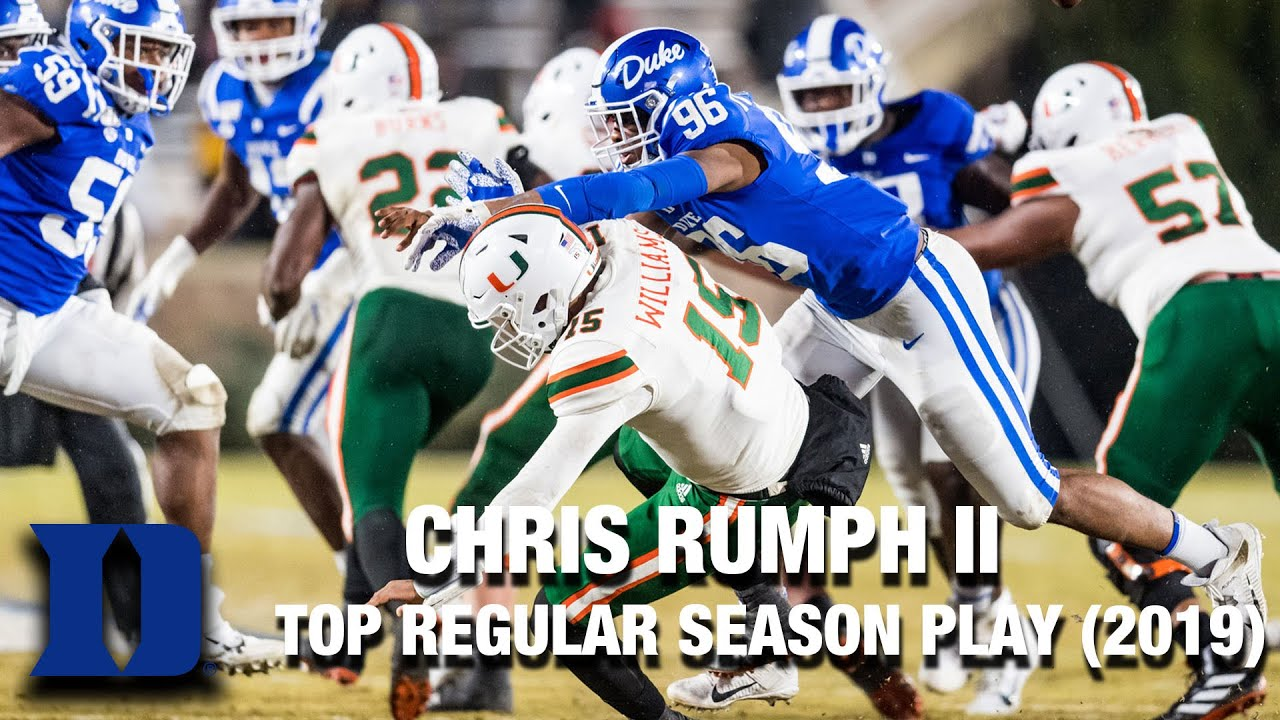 Duke DL Chris Rumph II | Top Regular Season Play of 20919