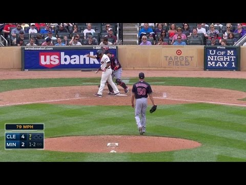 CLE@MIN: Hagadone strikes out Escobar in the 7th