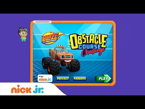 Blaze and the Monster Machines: 'Obstacle Course Challenge' Game Walkthrough | Nick Jr. Games (AD)