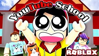 A Disastrous First Day of School - Roblox Roleplay YouTube School Obby - DOLLASTIC PLAYS!