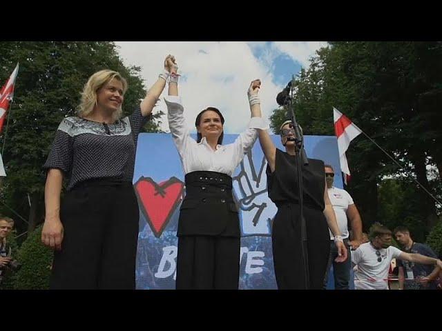<span class='as_h2'><a href='https://webtv.eklogika.gr/leykorosia-gynaikeia-symmachia-tis-antipoliteysis-stis-ekloges' target='_blank' title='Λευκορωσία: «Γυναικεία συμμαχία» της αντιπολίτευσης στις εκλογές…'>Λευκορωσία: «Γυναικεία συμμαχία» της αντιπολίτευσης στις εκλογές…</a></span>