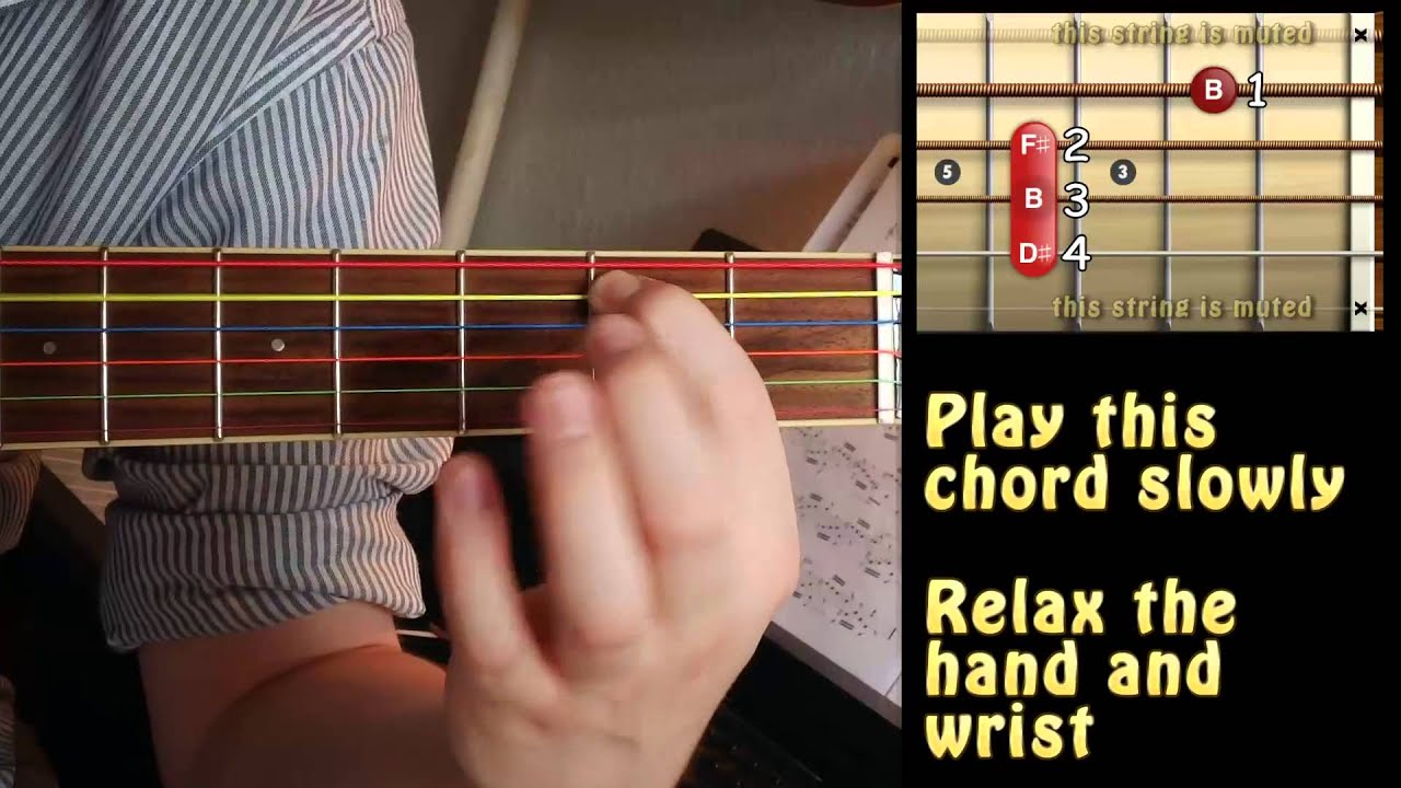The Easiest Way To Play B Major Chord On Guitar Halfstepz Guitar
