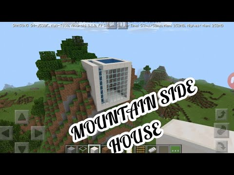 BUILDING A MOUNTAIN SIDE HOUSE IN MINECRAFT