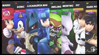 Super Smash Bros Ultimate Amiibo Fights Request #366 4 Team Battle at Green Hill Zone