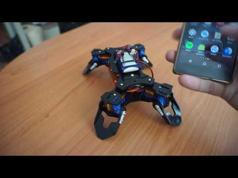 Fist build Quadruped robot with android as controller and the accelerometer sensor
