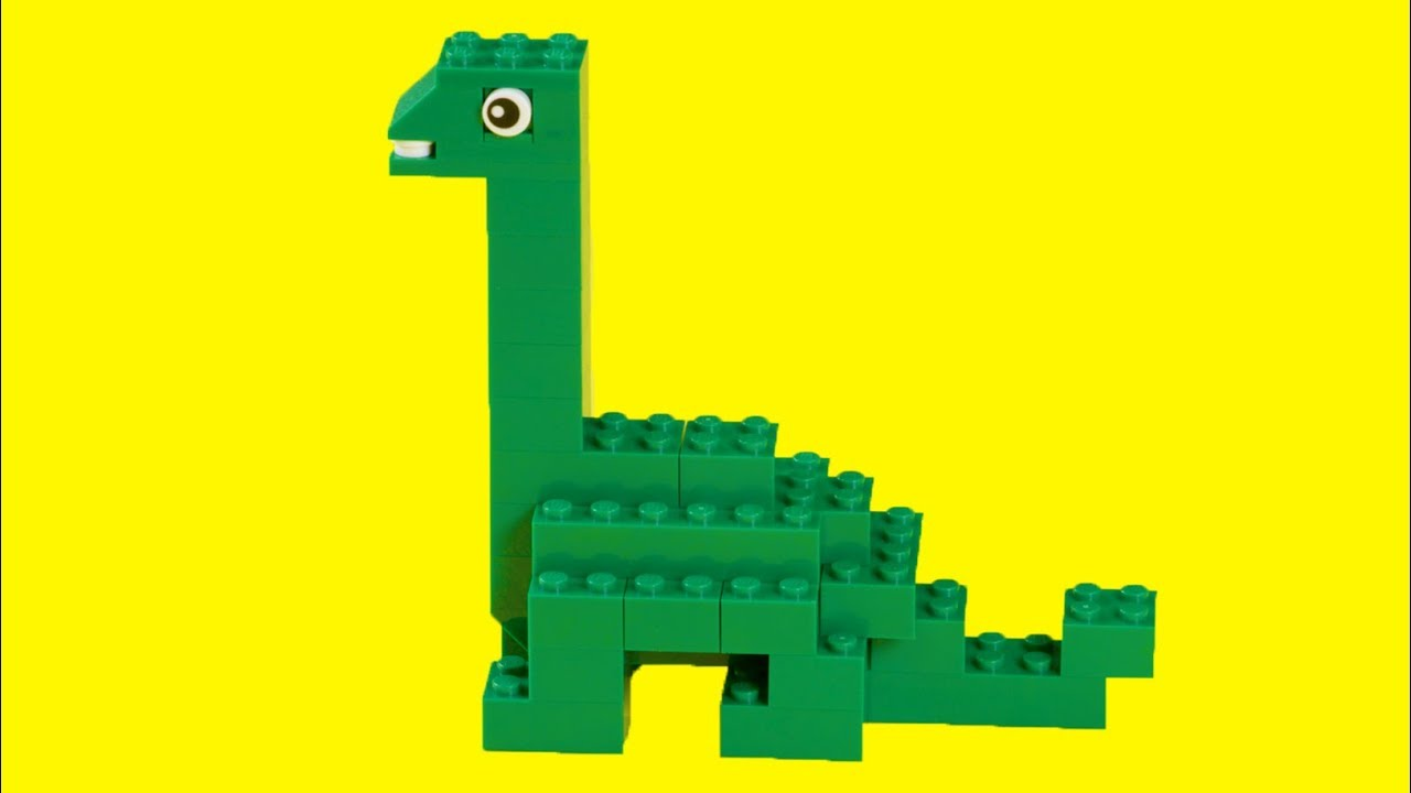 LEGO How To Make a DINOSAUR ! Easy Beginner LEGO Build - LEGO Academy DIY  Tutorial for Kids