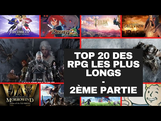 Top 20 des RPG les plus longs - 2ème partie