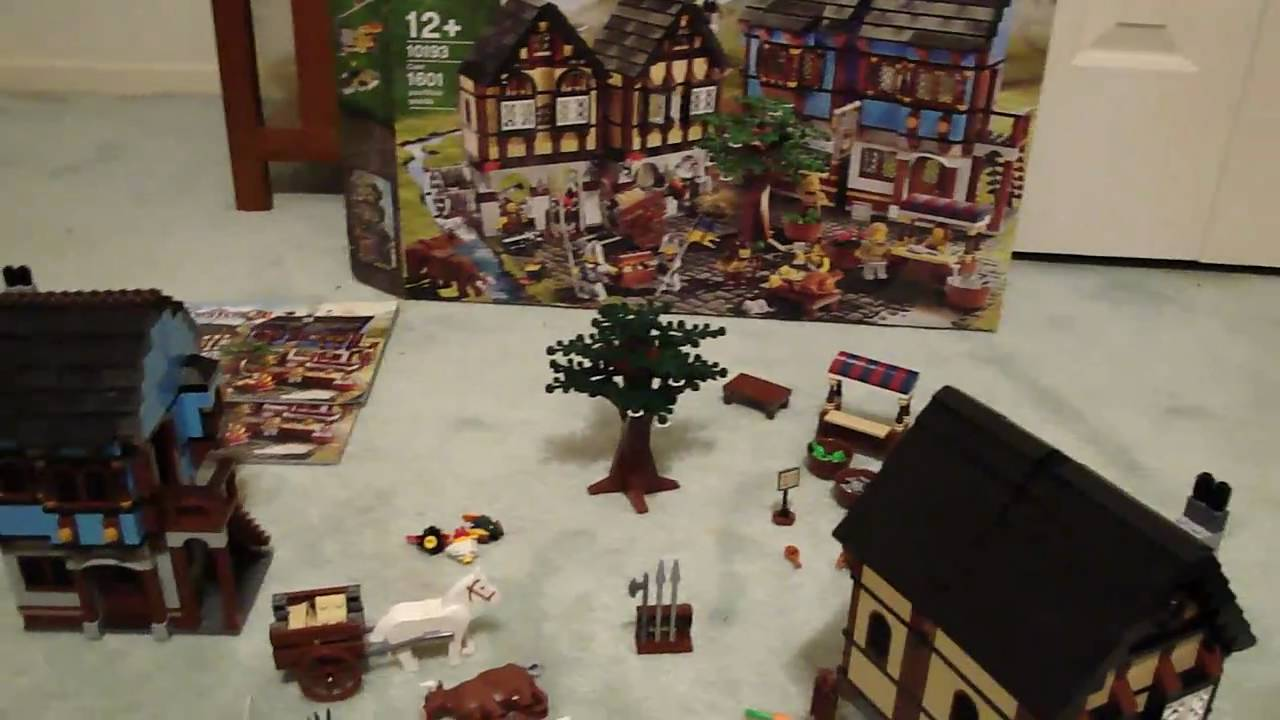 LEGO Medieval Market Village Review - YouTube