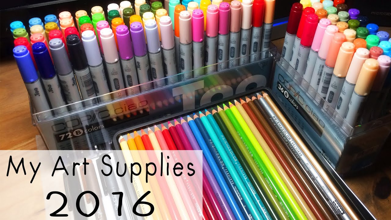 My Art Supplies 2016 Youtube