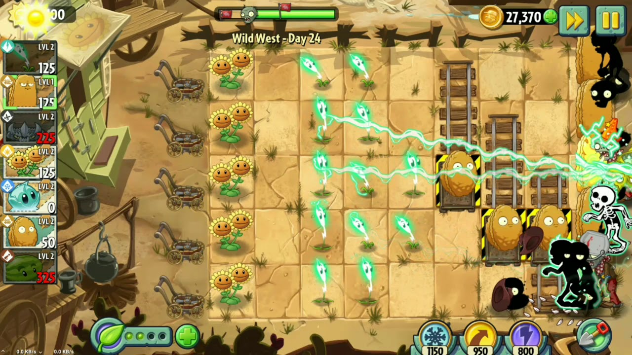 bos plant vs zombies 2 pvz 2 day 24