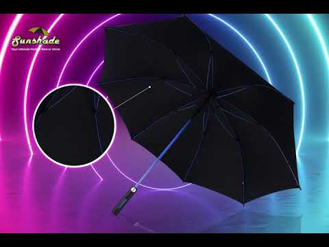 "30"" Full Fibre Auto Open Color Shaft Umbrella"