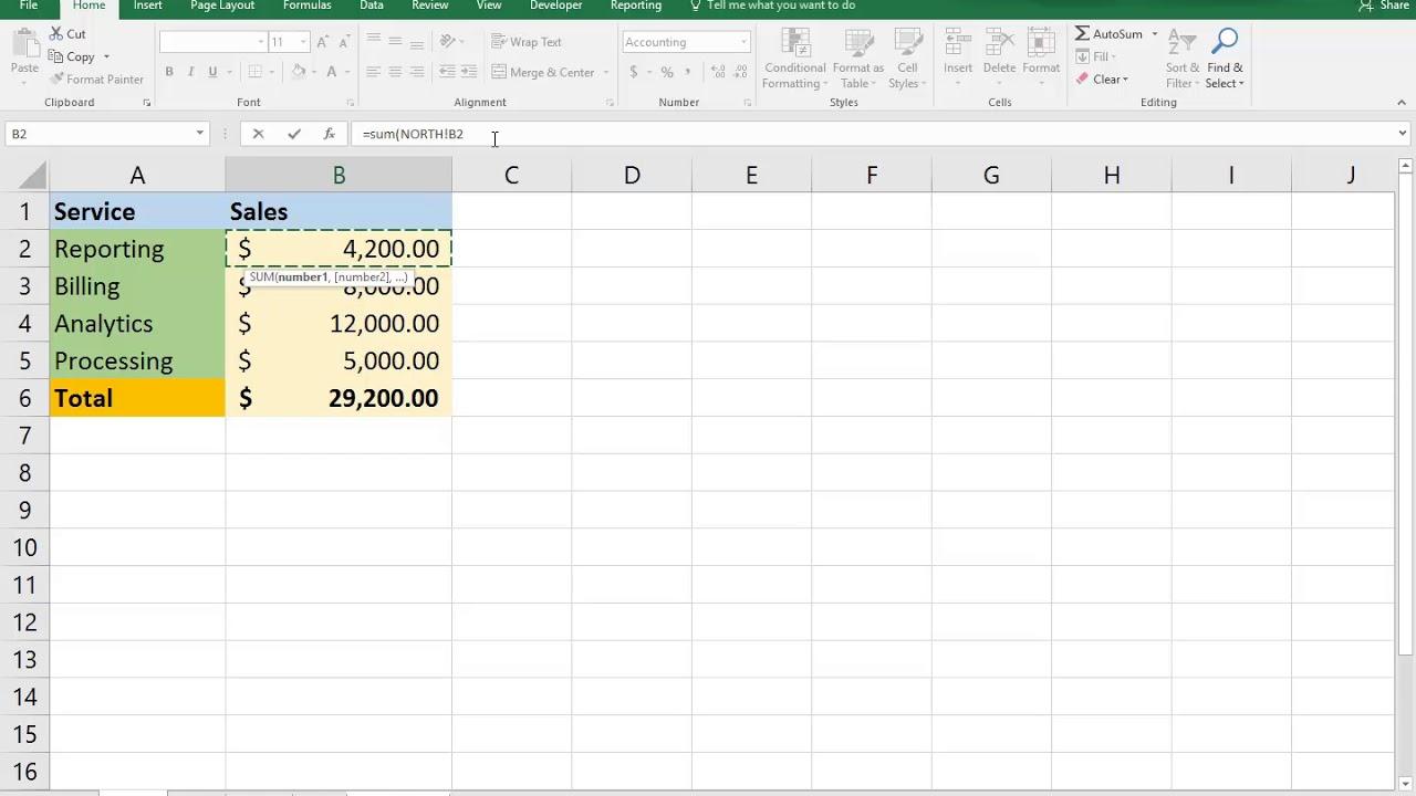Excel 20D Formula Across Sheets