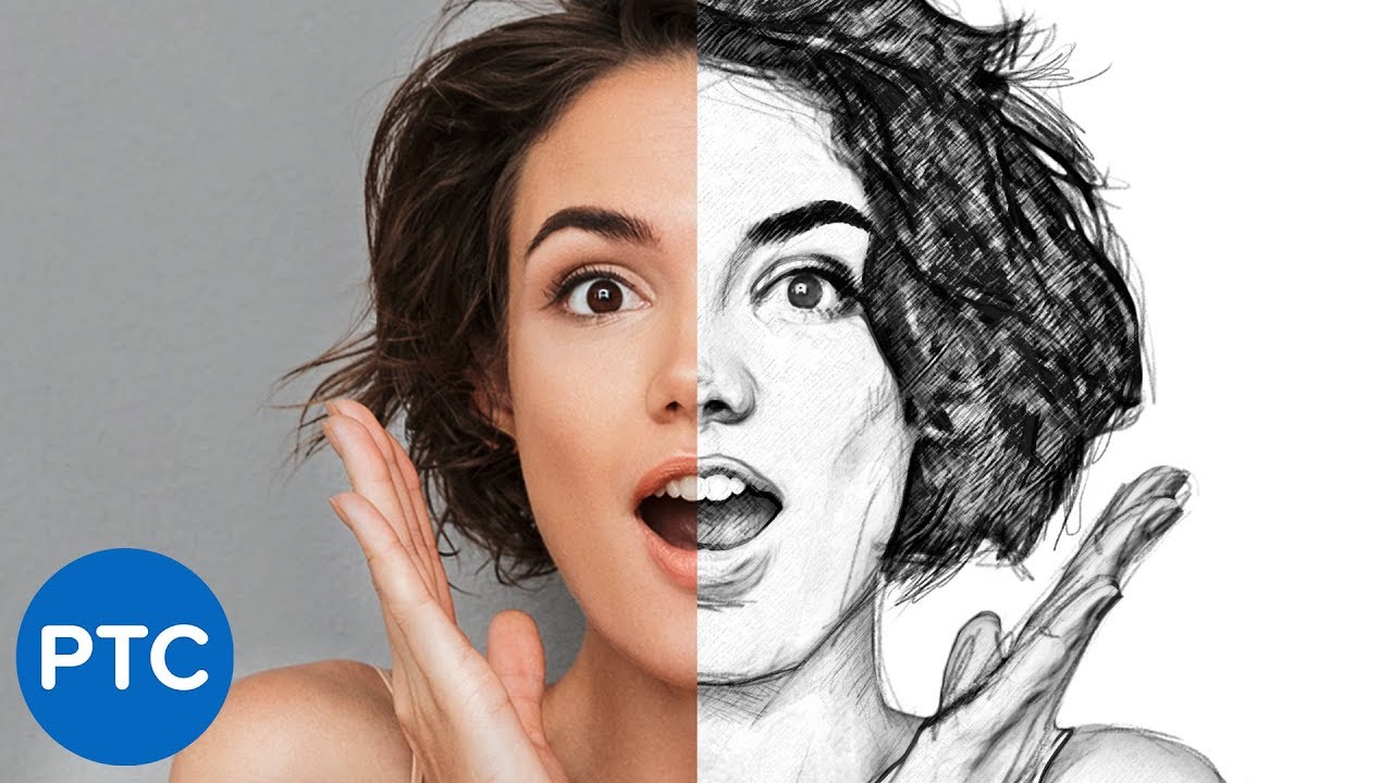 5 easy steps to create a realistic line drawing from a photo in photoshop