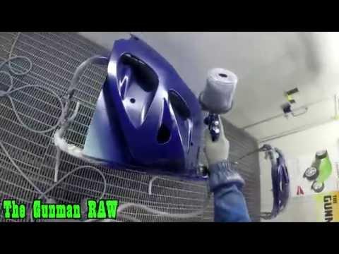 Spraying Motorbike Parts