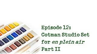 Product Review 12 - Cotman Studio Set for en plein air painting and what I use en plein air