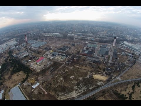 "Drone Fly-by - Abandoned Chimney Stack ""Wistom"" Chemical Plant"