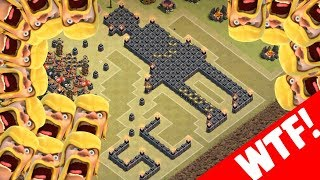 ULTIMATIVE WTF BASE COMPILATION! || Clash of Clans || LP CoC